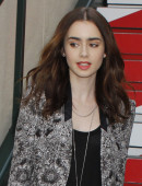 LILY COLLINS in Shorts