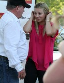 Kaley Cuoco seen at the Hollywood Charity Horse Show with William Shatner