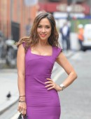 Myleene Klass seen at mother care clothes event in Mayfair in London