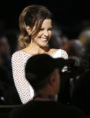 """Kate Beckinsale speaks during the taping of """"The Night That Changed America: A Grammy Salute To The Beatles""""  in Los Angeles"""