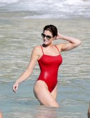 EXCLUSIVE Stephanie Seymour is seen on the beach in St Barts