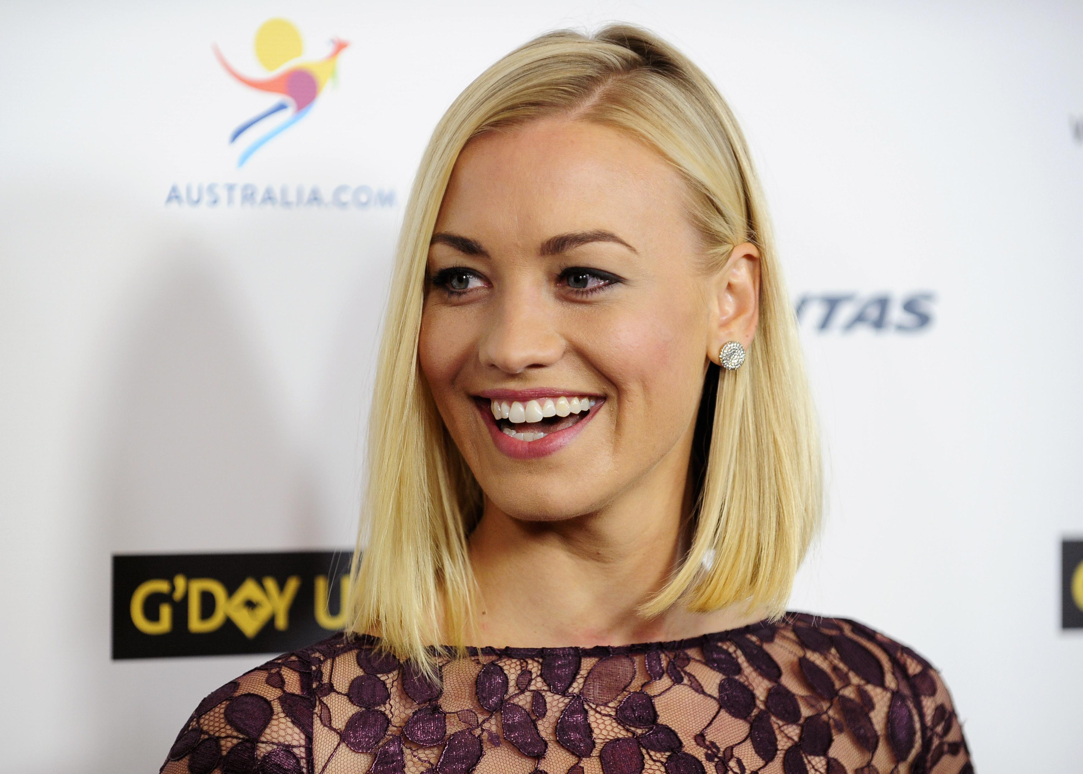 Australian actress Strahovski arrives during the G'Day USA Black Tie Gala in Los Angeles, California
