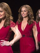 Celebrity chef Giada De Laurentiis presents a design at the The Heart Truth Red Dress Collection show during New York Fashion Week