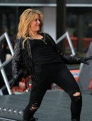 Singer Shakira performs during the 'Today' show at The Plaza in New York City