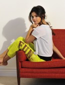 Selena Gomez On Set at the Fall Dream Out Loud Campaign Shoot for Kmart
