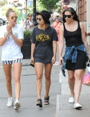 Zoe Kravitz and Cara Delevingne are seen out and about in Soho, New York City