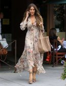 Sofia Vergara - Long Dress showing Cleavage Out For Lunch in Beverly Hills