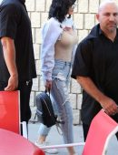Kylie Jenner Pokies in Ripped Jeans Out in Los Angeles