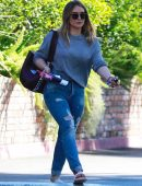 Hilary Duff in Ripped Jeans Out in Beverly HIlls