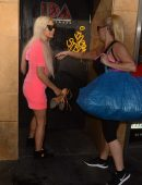 Angelique 'Frenchy' Morgan and Suzie Malone Training at IDA Studios in Hollywood