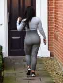 Lauren Goodger Booty in Tight Workout Clothes in Essex
