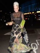 Lily Allen in See-Through Dress at the Mercury Prize Awards in London