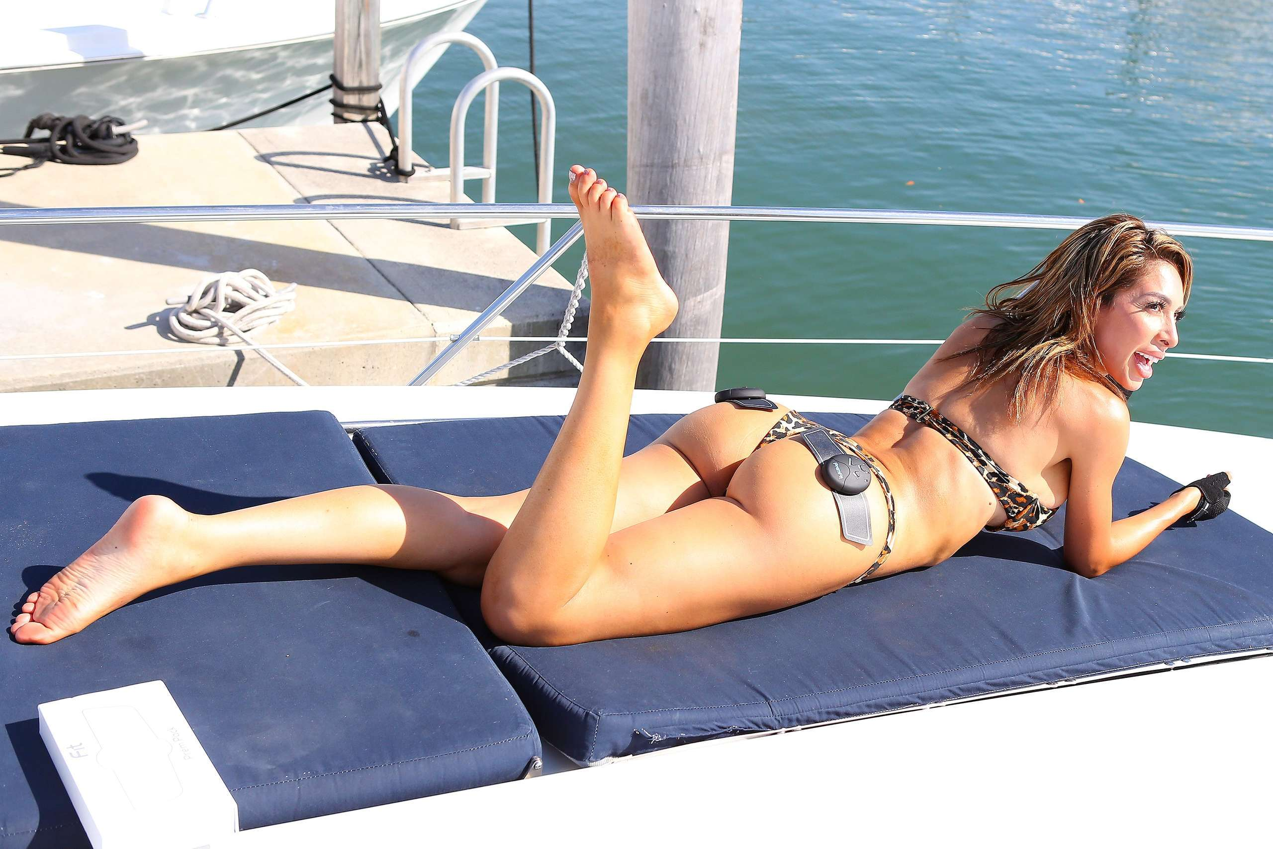 Farrah Abraham Booty, Training on a Boat in Florida