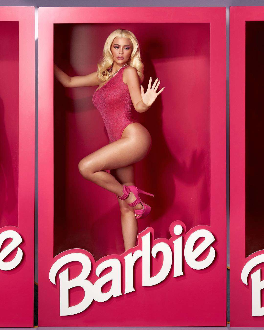 Kylie Jenner Dressed as Barbie for Halloween