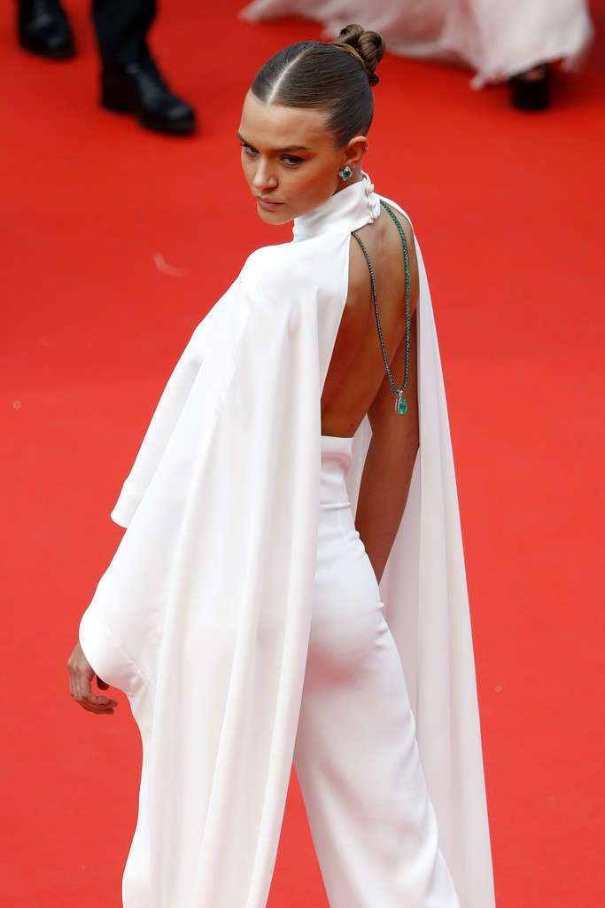"""Josephine Skriver at """"Oh Mercy!"""" Screening, 72nd Annual Cannes Film Festival"""