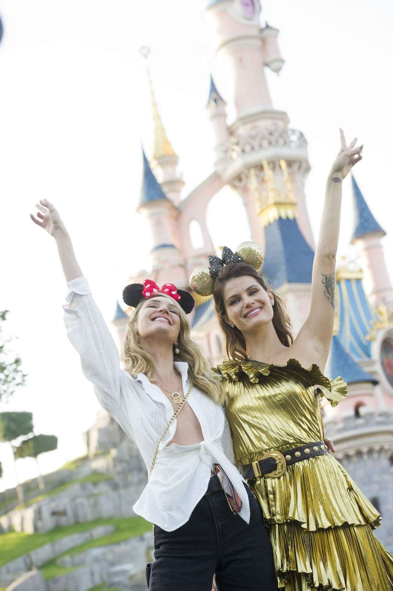 Candice Swanepoel and Isabeli Fontana at Exclusive Party at Disneyland in Paris