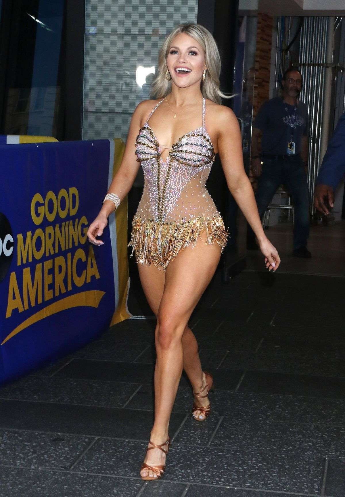 Witney Carson Arriving at Good Morning America in NY