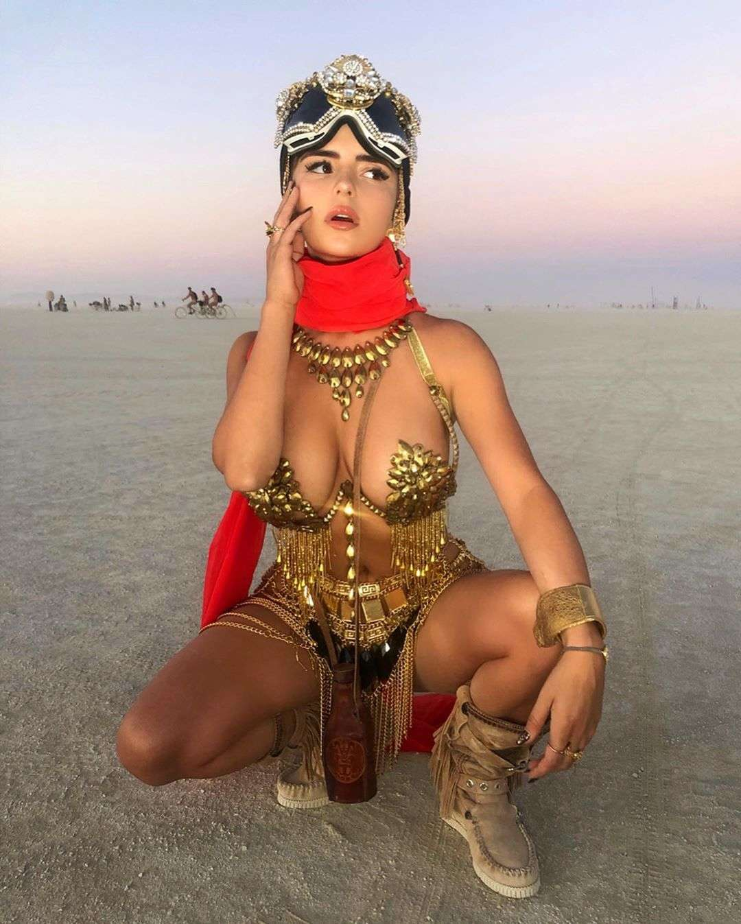 Demi Rose Mawby for Photshoot at the Beach