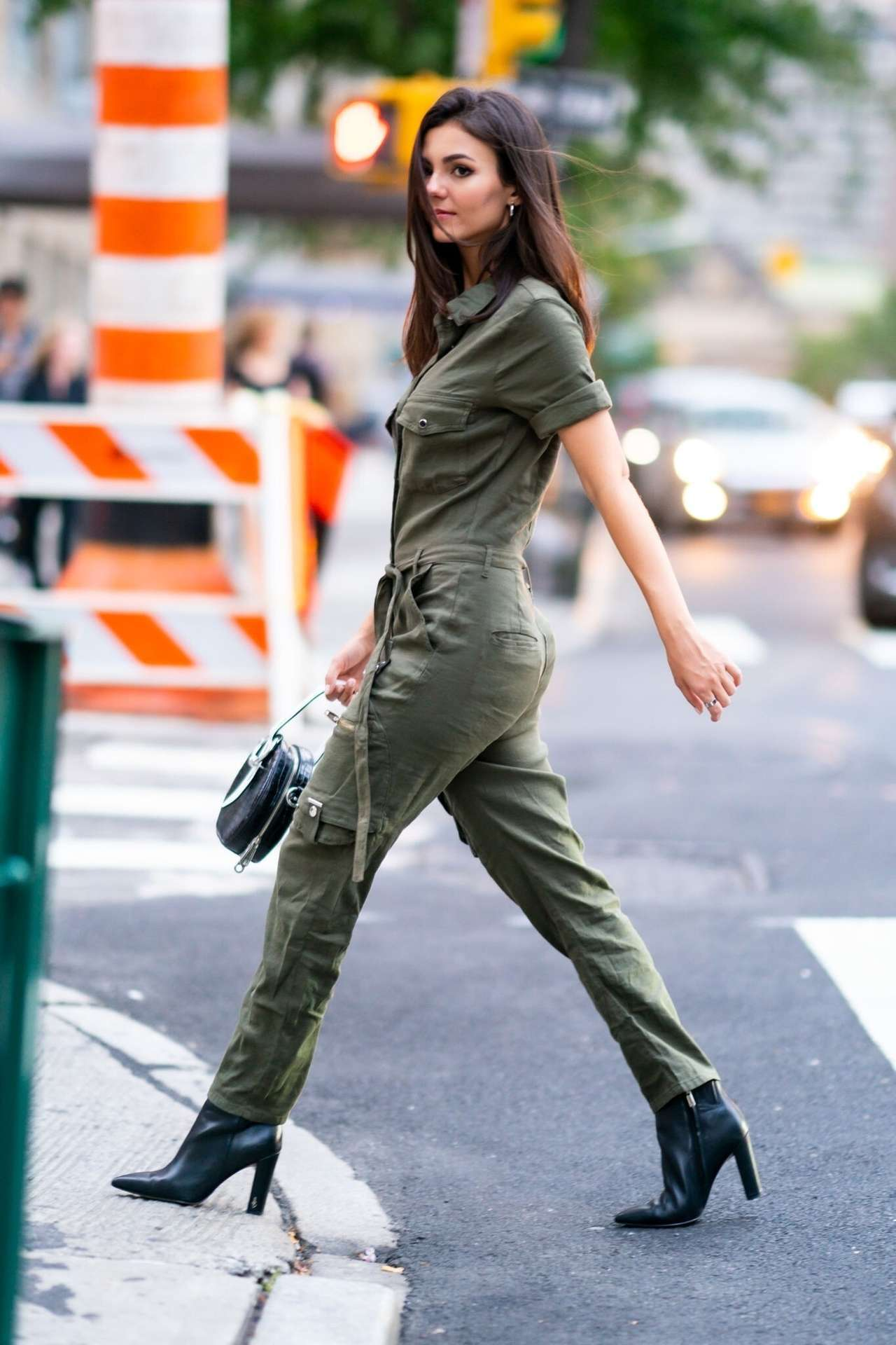 Victoria Justice in Jumpsuit Out in NYC