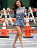 Victoria Justice Upskirt on the Set of a Photoshoot in New York