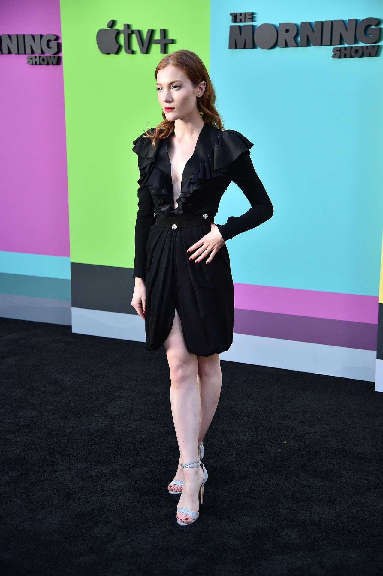 Skyler Samuels at The Morning Show Premiere in NY