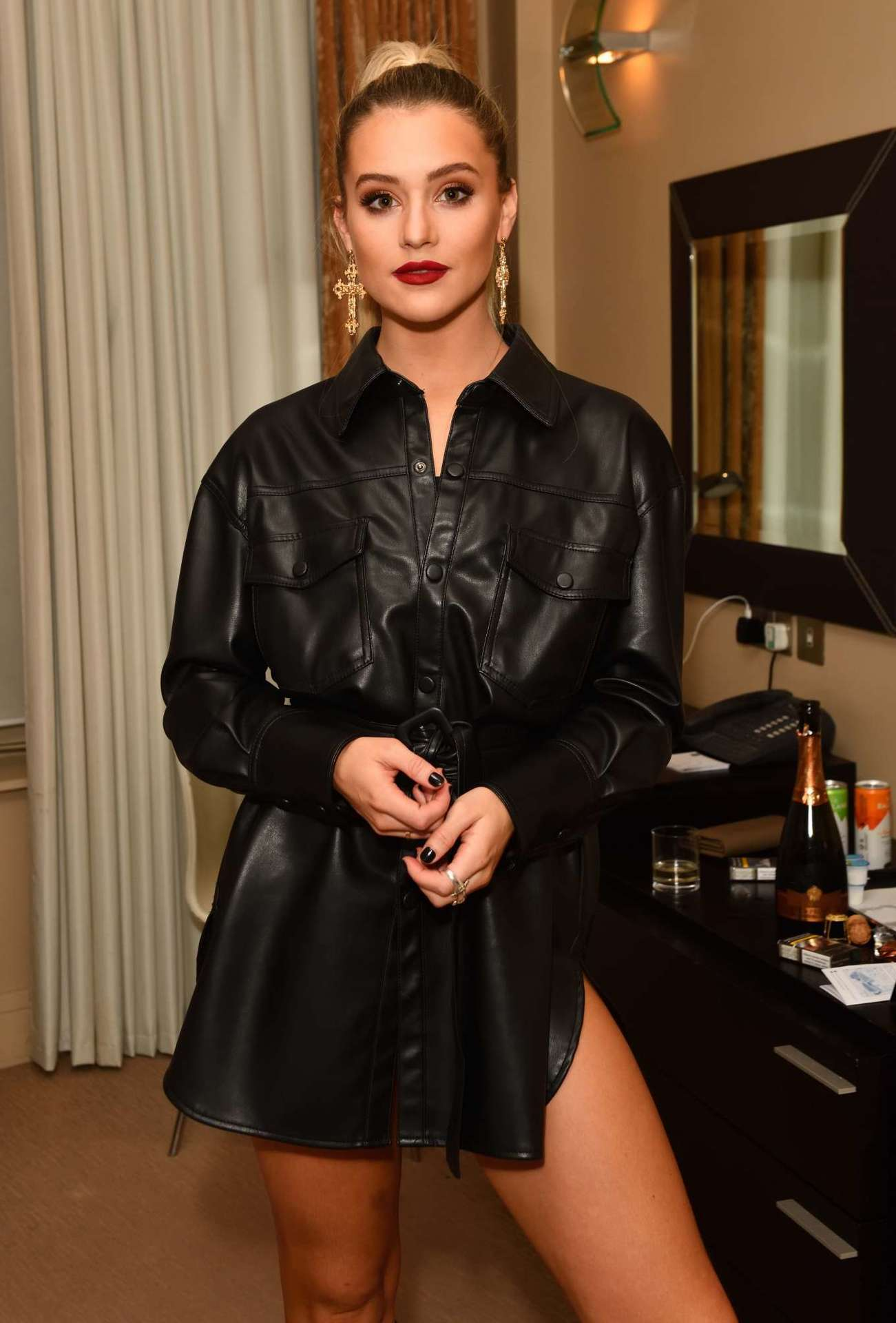Tina Stinnes at Cocoa Brown Christmas Party in London