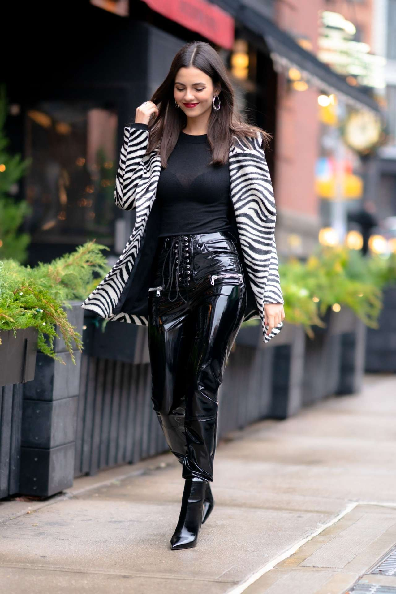 Victoria Justice in NYC and at Naughty Or Nice: A Swarovski Holiday Celebration