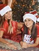 Victoria Justice and Madison Reed Celebrating Christmas