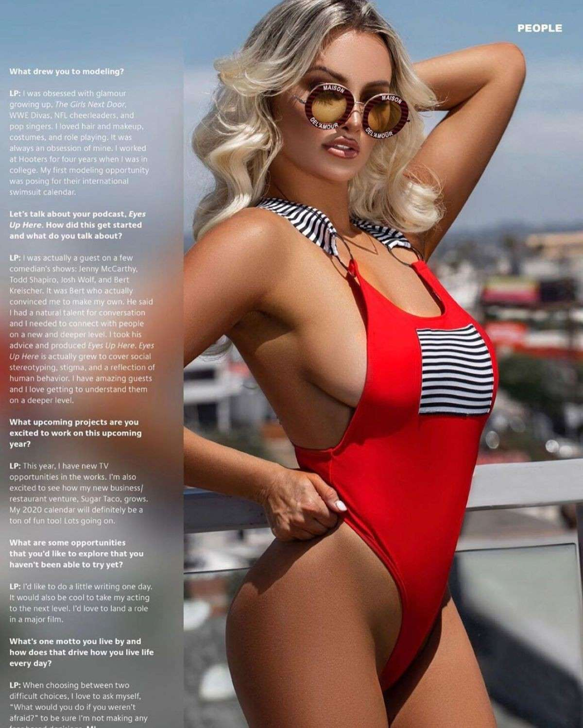 Lindsey Pelas Huge Assets in Miami Living Magazine - January 2020