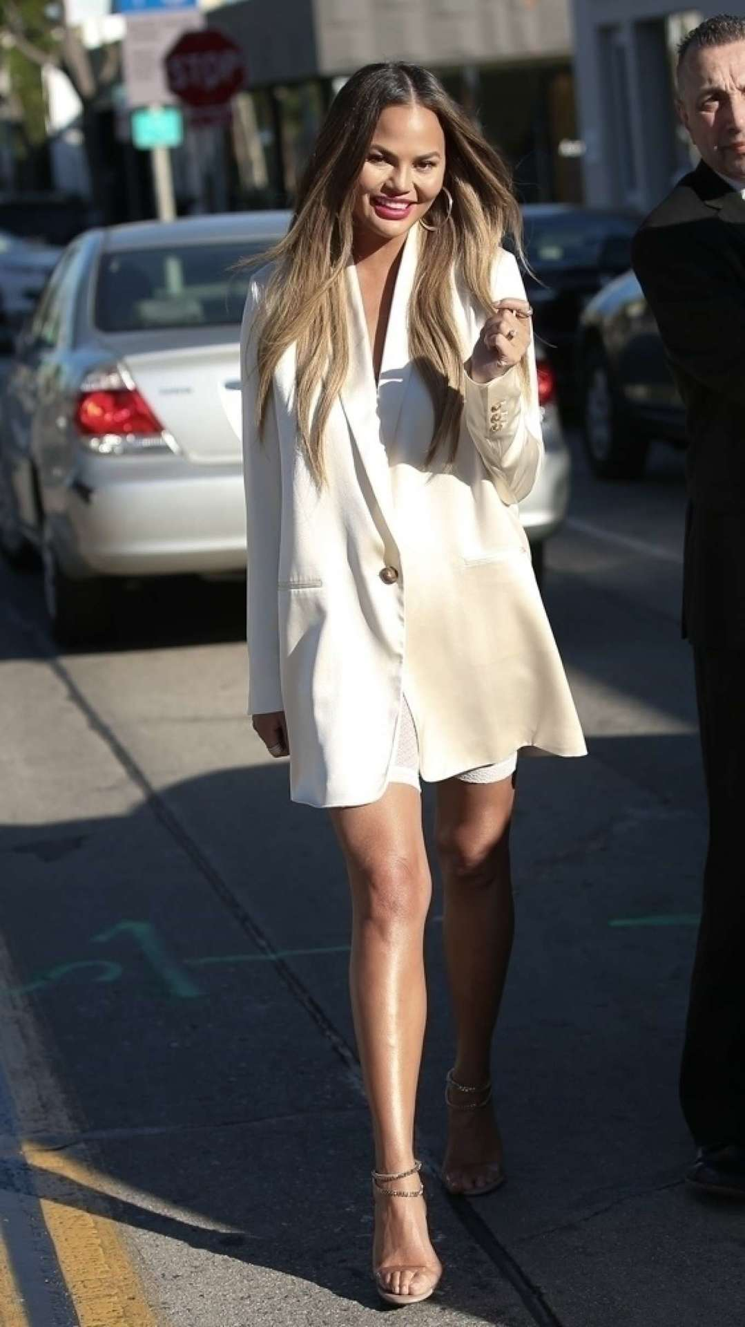 Chrissy Teigen for Lunch at Olivetta in West Hollywood