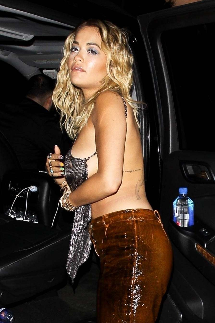 Rita Ora Braless Side-Boobs Out in West Hollywood