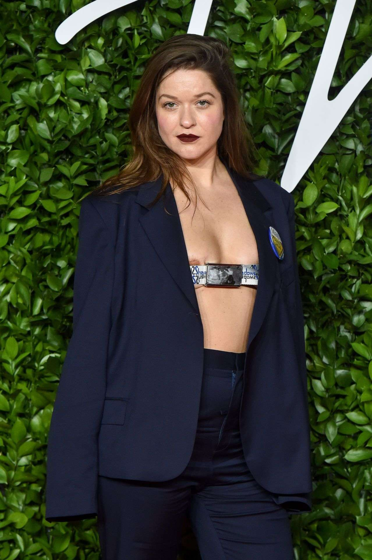 Madeleine Østlie on Red Carpet at The Fashion Awards at Royal Albert Hall in London