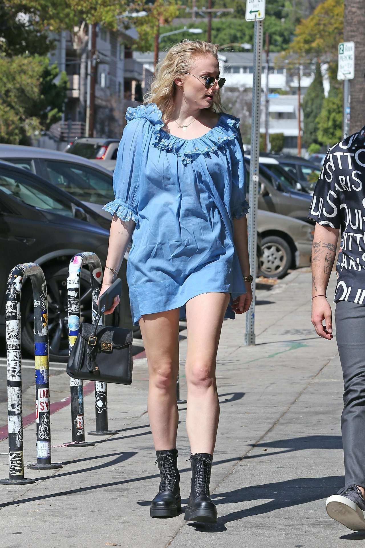 Sophie Turner Leggy, Out and About in Los Feliz