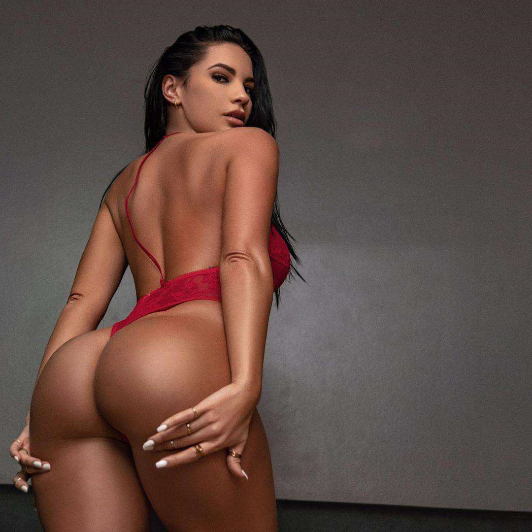 Yesy Naya Ass in Red Lingerie Photoshoot 2020