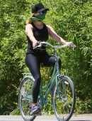 Reese Witherspoon Riding a Bicycle in Pacific Palisades