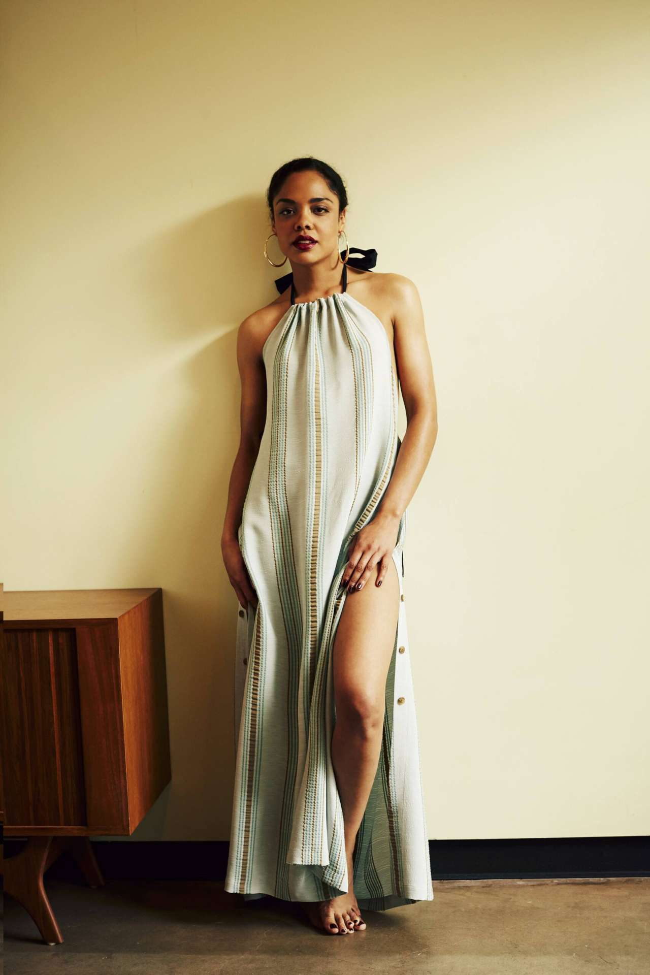 Tessa Thompson Photoshoot by by Guy Lowndes for Vogue Magazine