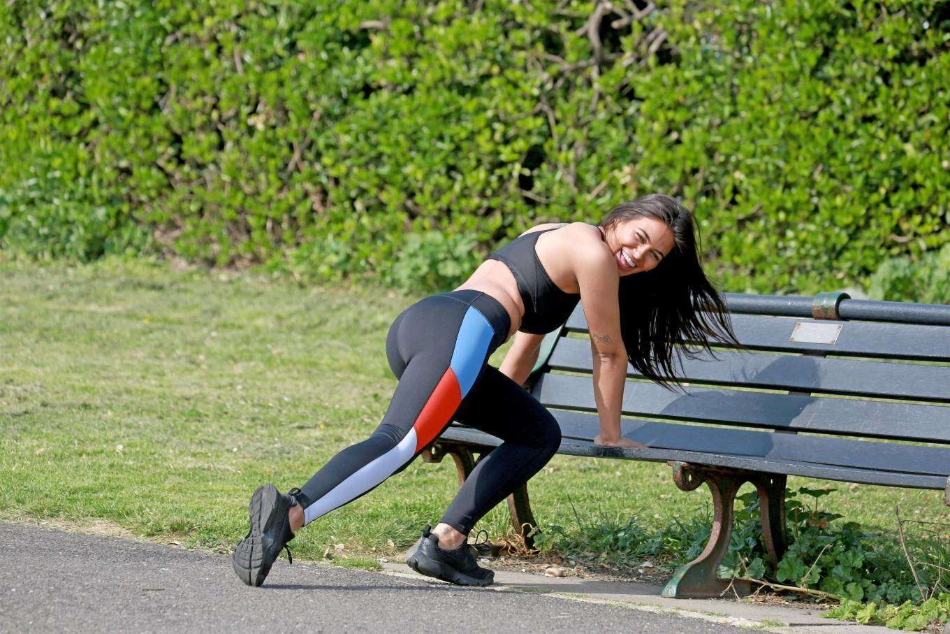 Lydia Clyma Booty in Gym Outfit, Workout in London
