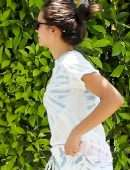 Nina Dobrev White Washing her Home in West Hollywood