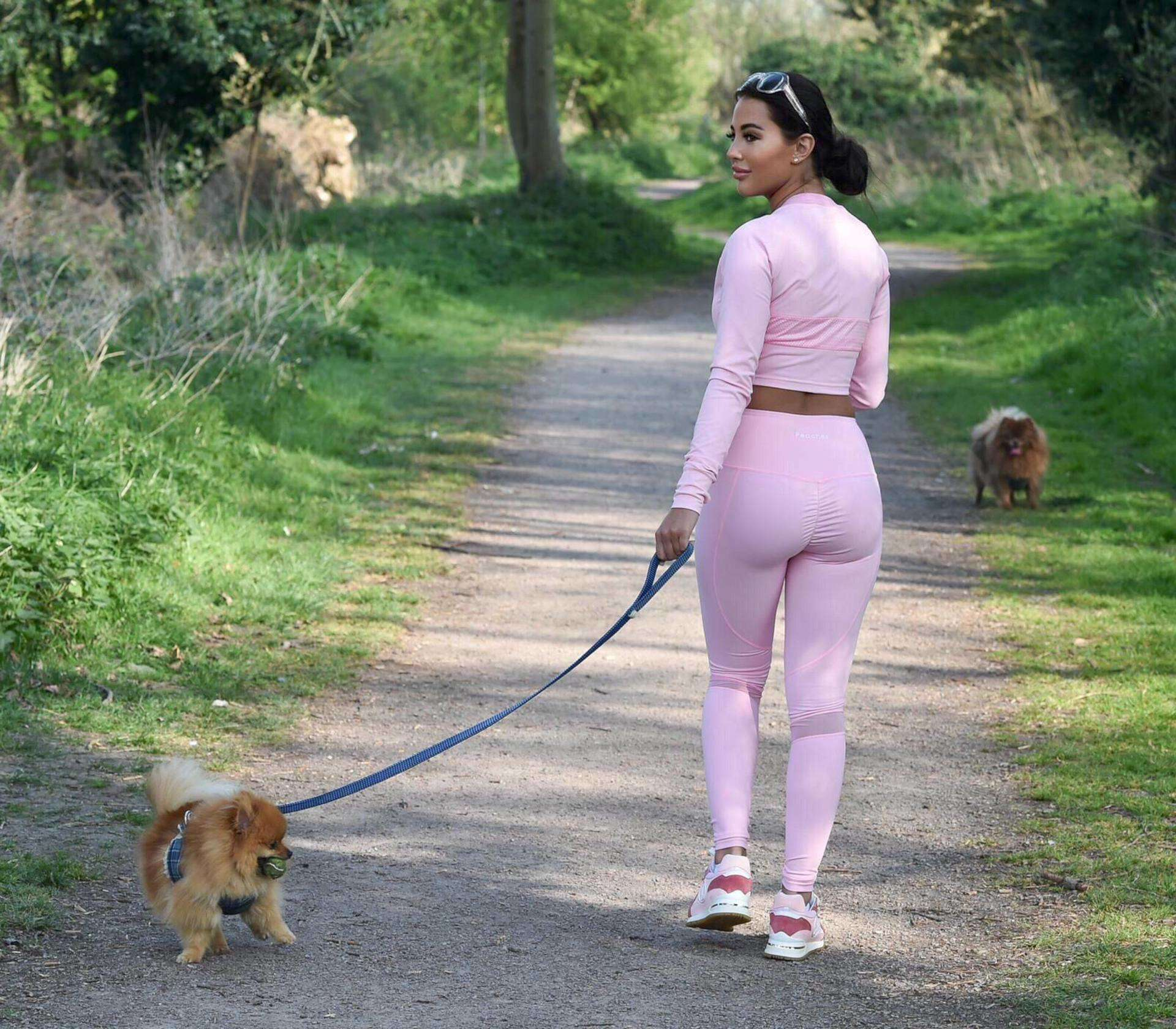 Yazmin Oukhellou Ass in Tight Leggings Out in Essex