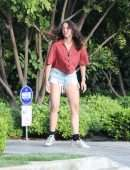 Ana de Armas Leggy in Denim Shorts, Playing with Ben Affleck's kids in Brentwood