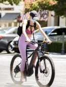 Hayley Roberts kinda Popped out of her Top while Mounting a Bike in Calabasas
