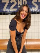 Eiza Gonzalez in Jeans and Cleavage for The Hollywood Reporter Photoshoot