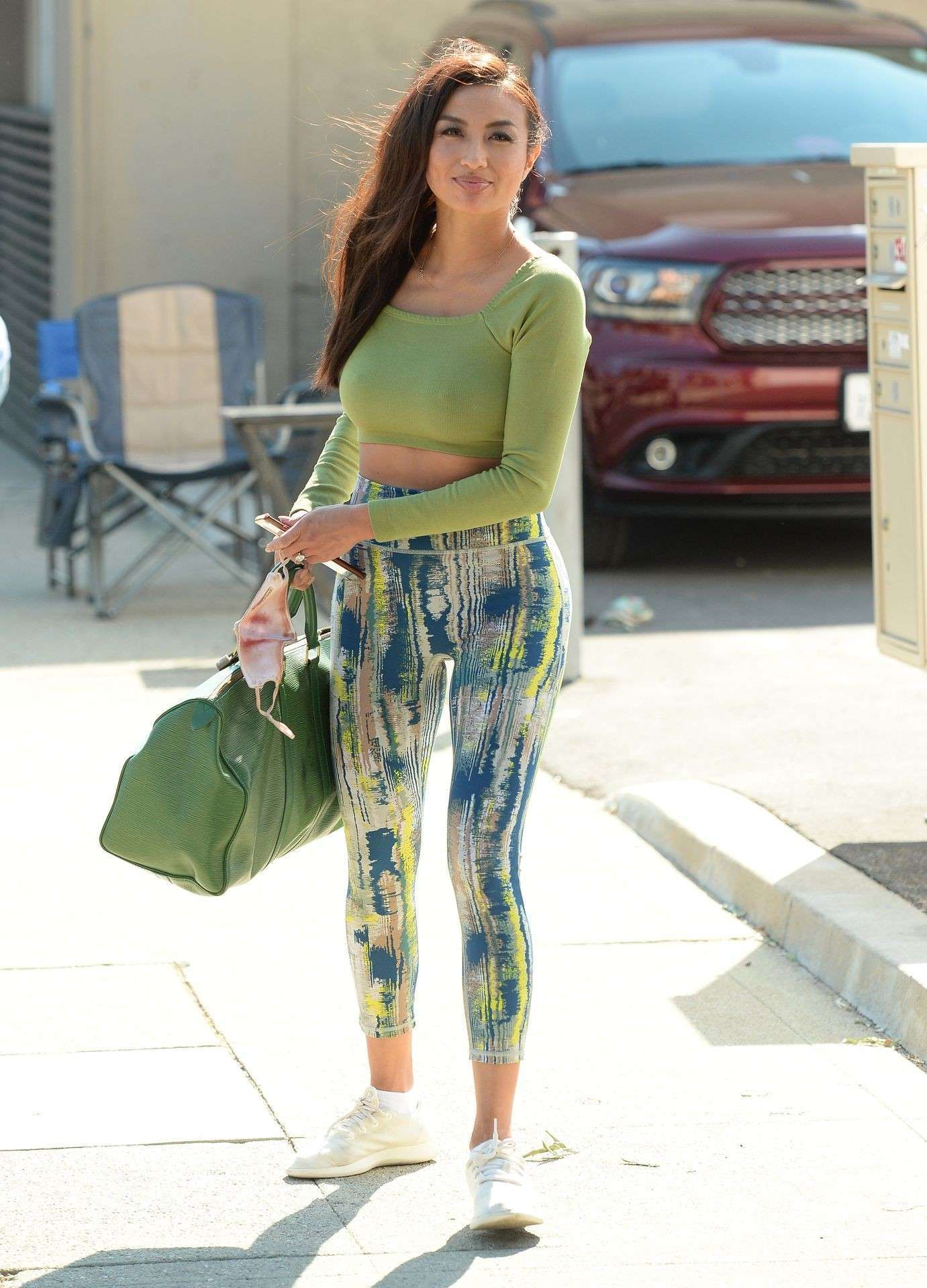 Jeannie Mai Pokies Outside 'Dancing with the Stars' TV Show Rehearsal in Los Angeles