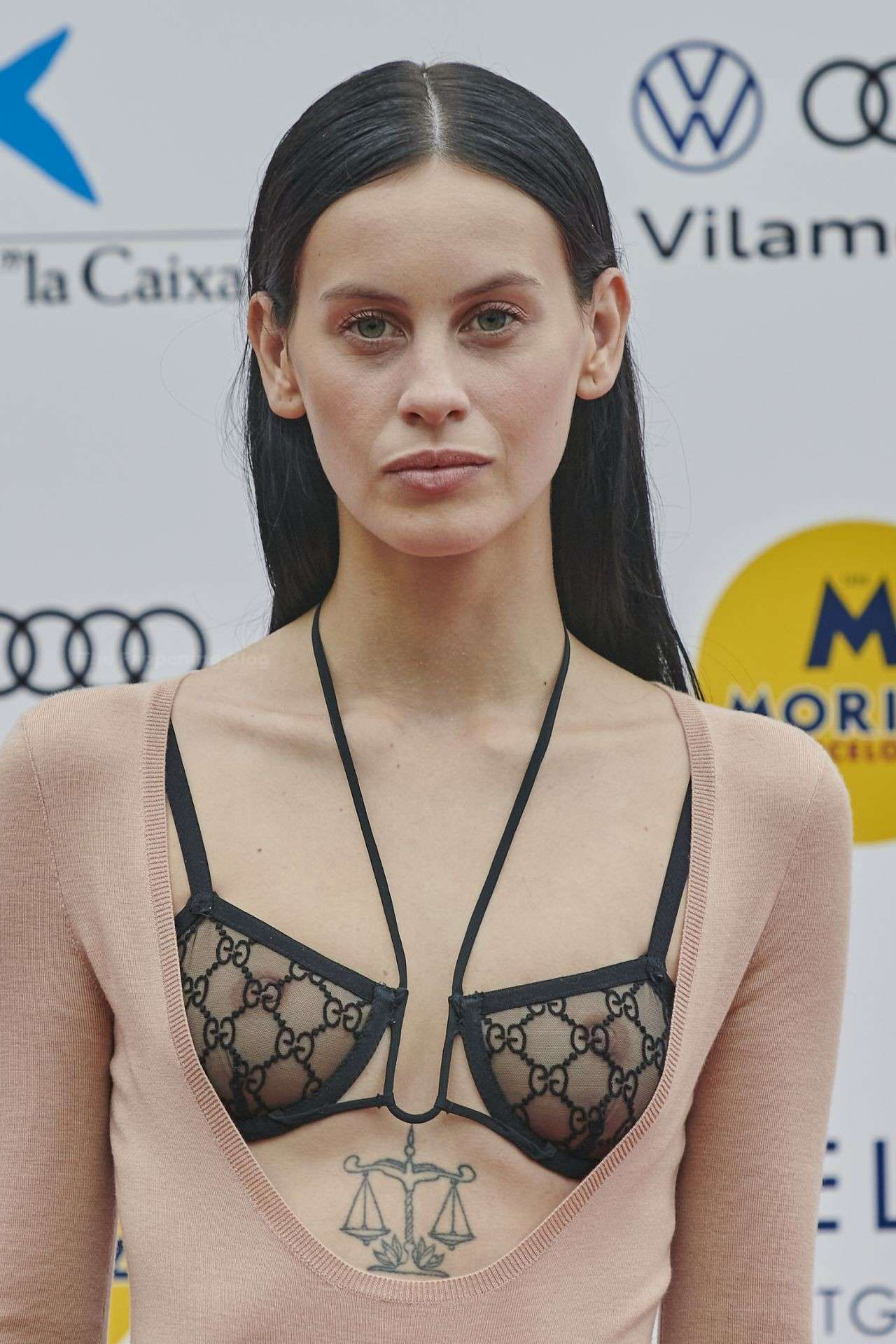 Milena Smith in See-Through Dress at the Sitges Film Festival