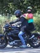 Ana De Armas Booty and Ben Affleck Riding Ben's Electric Harley Davidson in Brentwood