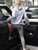 Christine McGuinness Leggy in Tights, Out and About in Wilmslow