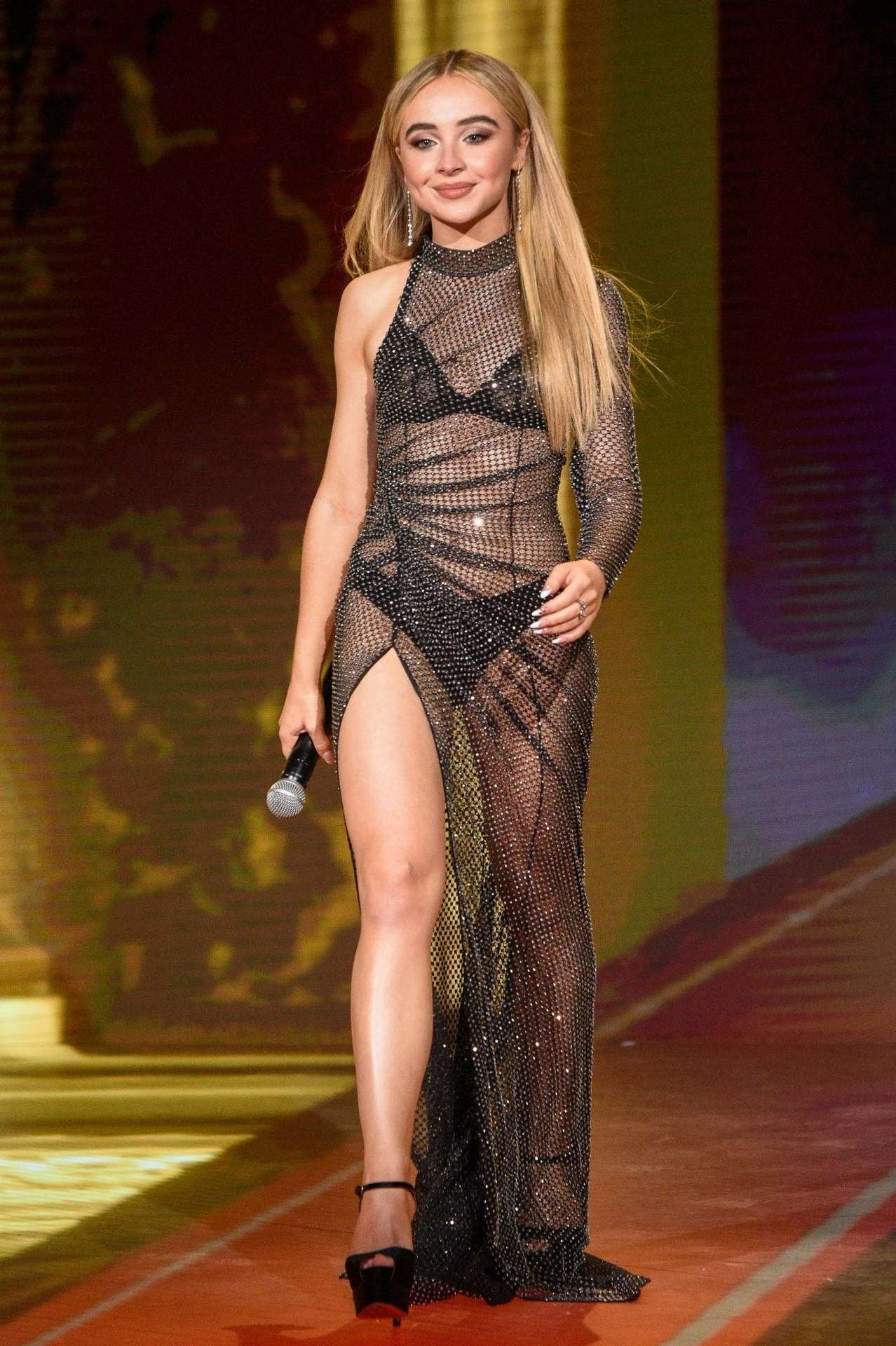 Sabrina Carpenter in a See-Through Dress at 2020 MTV Movie & TV Awards: Greatest Of All Time in Los Angeles