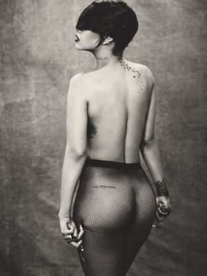 Rihanna Booty in See-Through Photoshoot