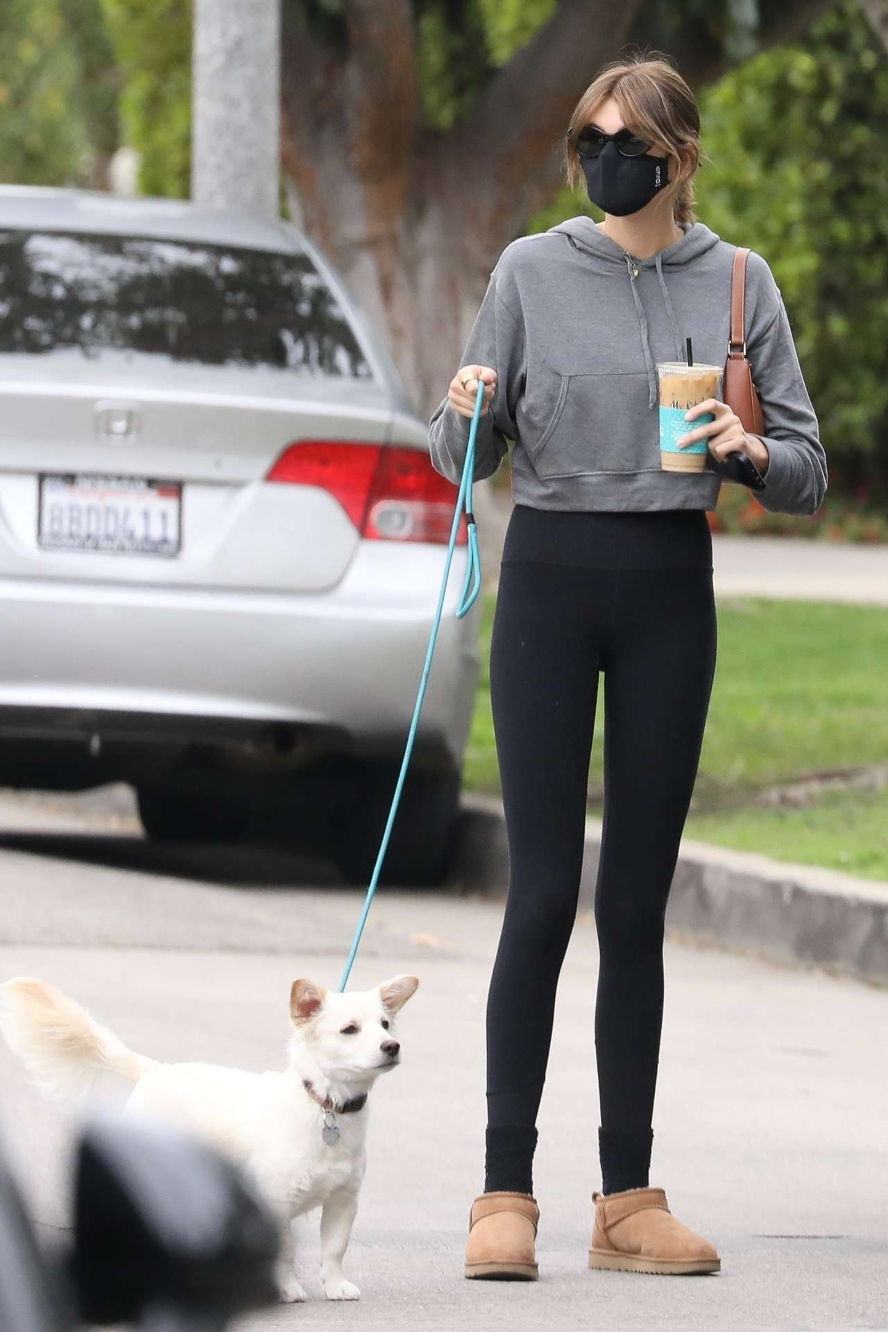 Cara Delevingne and Kaia Gerber Booty in Tights, Out in Los Angeles